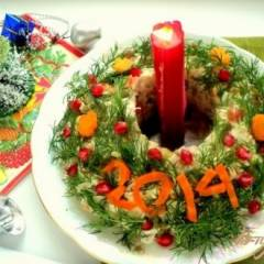 Салат «Оливье новогодний»