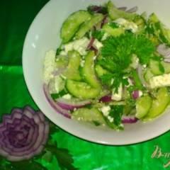 фото рецепта Салат из огурцов с фетой