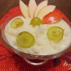 Рисовая каша с фруктами в мультиварке