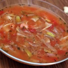 фото рецепта Томатный суп с лапшой