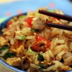фото рецепта Жареный рис со свининой