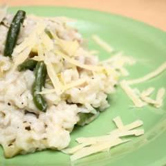 фото рецепта Зеленое ризотто с грибами