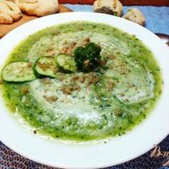 фото рецепта Крем-суп из огурца и цветной капусты