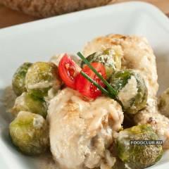 фото рецепта Курица с брюссельской капустой