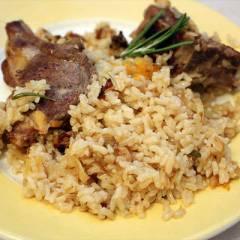 фото рецепта Бараньи ребрышки с рисом