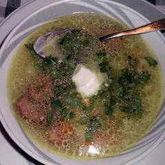 фото рецепта Суп c белой фасолью