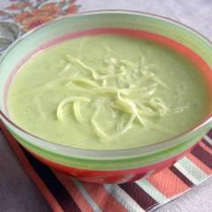 Суп-крем из кабачков с авокадо