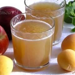 фото рецепта Яблочно-нектариновый морс с мятным сиропом