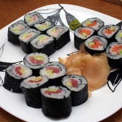 фото рецепта Маки суши (Сякэ маки, эби маки)