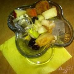 фото рецепта Салат из фруктов со льдом
