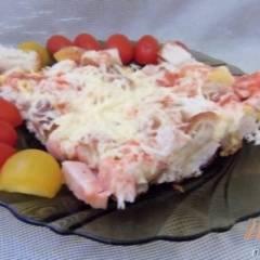 фото рецепта Ленивая а-ля пицца на сковороде
