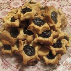 Песочное печенье с  клубничным джемом