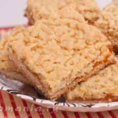 Тертое печенье с абрикосовым вареньем