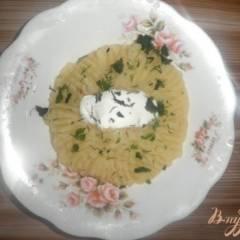 Картофельное пюре со сметаной и зеленью