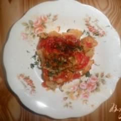 Запеканка из цветной капусты с сыром и помидорами