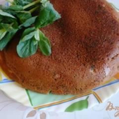 Кефирный пирог со свежей мятой