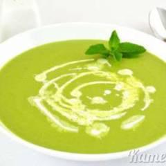 фото рецепта Суп-пюре из зеленого горошка с мятой