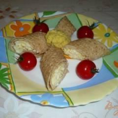 фото рецепта Блинные рулетики закусочные