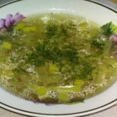 Картофельный суп с луком пореем