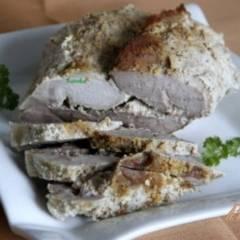 Свиной рулет в горчично сметанном соусе