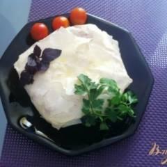 Пирог с сыром камамбер и черри