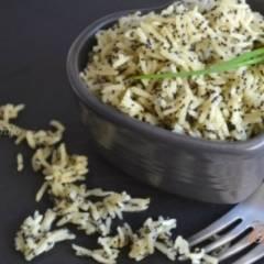 фото рецепта Рисовый гарнир с маком