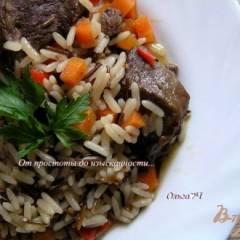 Свинина с рисом и овощами (в мультиварке)