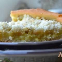 Пирог  из хлебного теста с ревенем
