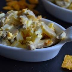 Салат с кукурузными чипсами
