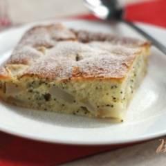 Пирог с грушей и маком