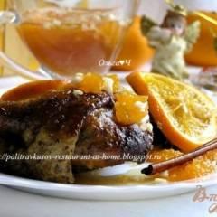 Индоутка в апельсинах и белом вине с мандариновым чатни (в мультиварке)