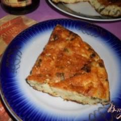 Запеканка из творога и сыра с зеленью