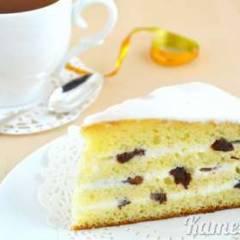 Сгущеночный торт со сметаной и черносливом