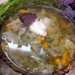 Суп из молодых овощей
