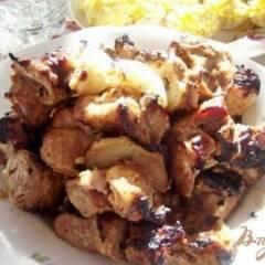 фото рецепта Шашлык из свиной шеи в горчичном маринаде