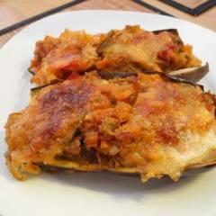 фото рецепта Лодочки из баклажанов с овощами