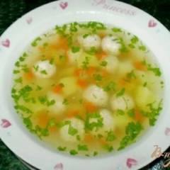 фото рецепта Диетический суп с фрикадельками