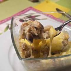 фото рецепта Жульен с грибами в микроволновке