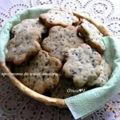 Кунжутное печенье с отрубями на пиве