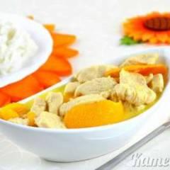 Куриное филе в апельсиновом соусе