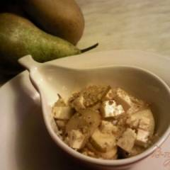 Салат  из груши и брынзы