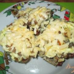 фото рецепта Горбуша под шубкой из майонеза и сыра