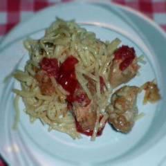 фото рецепта Макароны с индейкой под сырным соусом