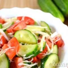 фото рецепта Салат из огурцов и помидоров