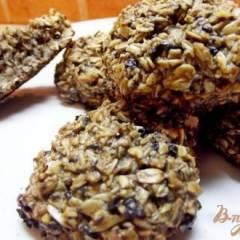Овсяное печенье с черничным вареньем