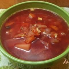 фото рецепта Борщ с печеными овощами