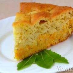 Пирог с капустой и морковью