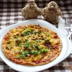 фото рецепта Тропическая пицца с соусом