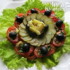 фото рецепта Закуска из тунца с помидорами