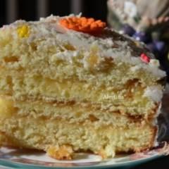 Апельсиновый кекс с начинкой и цитрусовыми цукатами